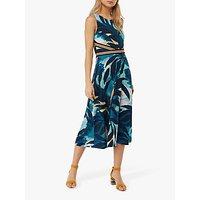 Monsoon Amarelle Print Dress, Blue