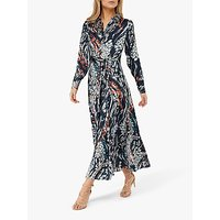 Monsoon Larna Leopard Print Dress, Brown