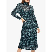 Ghost Nadia Dress, Blue Leopard