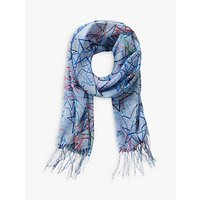 Betty & Co. Star Print Scarf, Light Blue/dark Blue