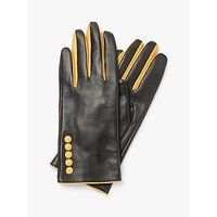 John Lewis & Partners Leather Button Detail Gloves
