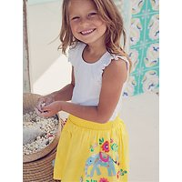 Mini Boden Girls Bright Embroidered Skirt, Yellow