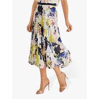 Fenn Wright Mason Kiku Abstract Floral Pleated Skirt, Multi