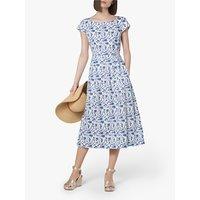 L.K.Bennett Glenda Fifties Tea Dress, Blue/Multi