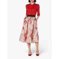L.K.Bennett Bouvier Organza Silk Skirt, Pink