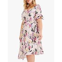 shop for Studio 8 Calie Floral Print Asymmetric Midi Dress, Pink/Multi at Shopo