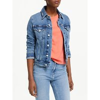 Calvin Klein Jeans Foundation Trucker Jacket, Light Togy Blue