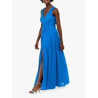 Monsoon Sinead Bow Maxi Dress, Royal Blue
