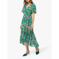 Monsoon Alba Print Tea Dress, Green