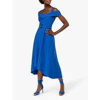 Monsoon Sofia Bardot Midi Dress, Blue