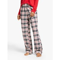 Dkny Check Please Flannel Pyjama Bottoms, Red/multi