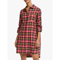 Dkny Check Please Flannel Nightshirt, Navy/red