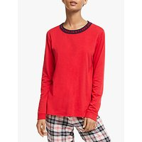 Dkny Check Please Long Sleeve Top, Red