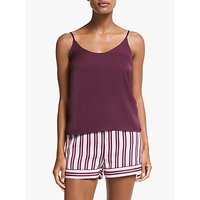 John Lewis and Partners Neve Short And Camisole Satin Pyjama Set, Purple