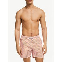 Hartford Dot Print Swim Shorts, Orange