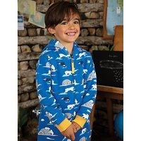 Frugi Childrens GOTS Organic Cotton Snuggle Suit, Blue