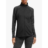 adidas Climalite Full-Zip Jacquard Womens Training Jacket, Black
