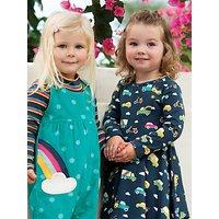 Frugi Baby GOTS Organic Cotton Sofia Skater Dress, Navy