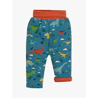 Frugi Baby GOTS Organic Cotton Rory Reversible Pull-Up Trousers, Green