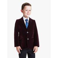 John Lewis and Partners Heirloom Collection Boys Velvet Blazer Jacket