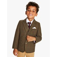 John Lewis and Partners Heirloom Collection Boys Tweed Check Blazer, Green