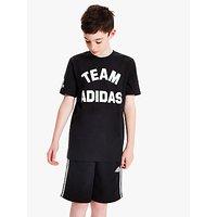 adidas Boys Varsity Team Adidas Logo T-Shirt, Black