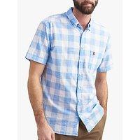 Joules Wilson Cotton Shirt, Blue Check