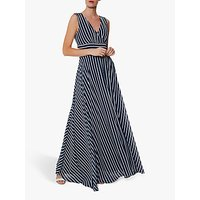 Gina Bacconi Ladora Maxi Dress, Navy/White