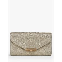 L.K.Bennett Lucy Textured Envelope Clutch Bag, Gold