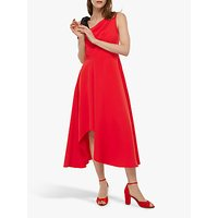 Monsoon Peri One Shoulder Midi Dress, Pink