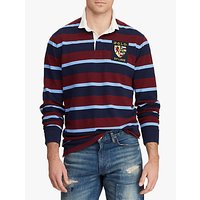 Polo Ralph Lauren Shield Patch Rugby Shirt, Classic Wine Multi