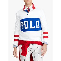 Polo Ralph Lauren Logo Rugby Top, White Multi