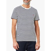 Joules Boathouse Striped T-Shirt, Cream/Navy