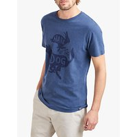 Joules Graphic Short Sleeve Cotton T-Shirt, Navy Marl