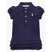 Polo Ralph Lauren Baby Ruffle Hem Dress and Bloomer Set, Navy