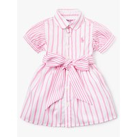 Polo Ralph Lauren Baby Stripe Shirt Dress, Pink