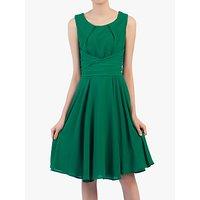 shop for Jolie Moi Flared Belt Detail Dress at Shopo