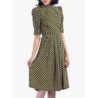 shop for Jolie Moi Geometric Print Turtleneck Dress, Yellow at Shopo