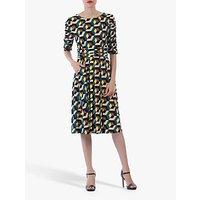 shop for Jolie Moi Geometric Boat Neck Midi Dress at Shopo