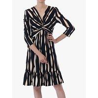 shop for Jolie Moi Twist Flare Dress, Black Wave at Shopo