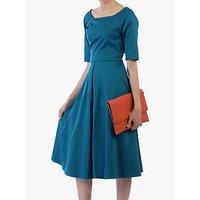 shop for Jolie Moi Scoop Neck Swing Dress, Teal at Shopo