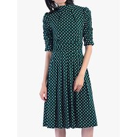 shop for Jolie Moi Geometric Print Turtleneck Dress, Green at Shopo