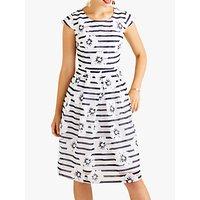 shop for Yumi Stripe Floral Dress, Navy at Shopo