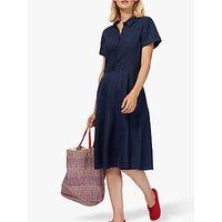 Brora Linen Tennis Dress, Navy