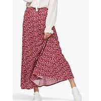 Brora Liberty Print Maxi Skirt, Crimson Blossom