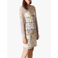 Karen Millen Garden Party Lace Dress, White/Multi
