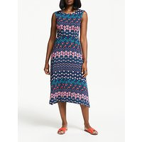 Boden Polly Dress, Navy Floral Field