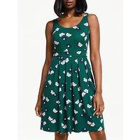 Boden Joanna Ponte Dress, Woodland Green/Multi