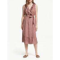 Boden Nancy Linen Dress, Chalky Pink Zinnia
