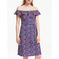 Boden Bethany Bardot Floral Jersey Dress, Multi